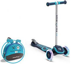Самокат триколісний блакитний Scooter T3 Smart Тгіке