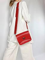 Червона жіноча сумка з широким ременем з екошкіри FU2х4