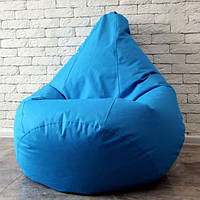 Бескаркасное кресло груша 85х65 см Голубое