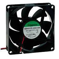 EE80252B3-999 (вентилятор DC, 80x80x25, 24V, ball, 56,1м3/год, 28дБ)