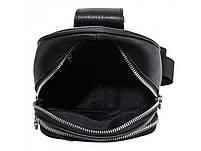 Чоловічий шкіряний рюкзак на одне плече TIDING BAG A25F-022-1A, фото 4