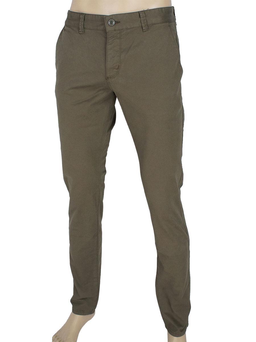 Якісні чоловічі завужені джинси Cordial K: 01-2102 C: 016 кольору хакі