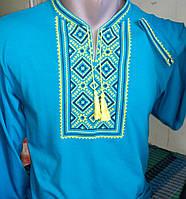 Мужская футболка с вышивкой  218 САК
