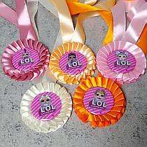 """Медали с разноцветными розетками """"Лол"""""""