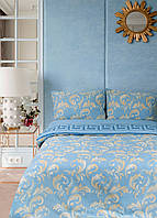 Постельное белье Lotus Ranforce - Sigma голубой полуторное