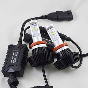 Комплект LED ламп в основные фонари серии G7 под цоколь Н11/H8/H9 24W 4000 Люмен/Комплект, фото 2