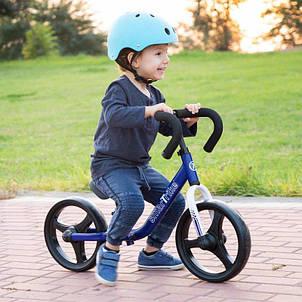 Дитячий беговел Folding Smart Trike синій, фото 2