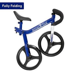Детский беговел Folding Smart Trike синий, фото 3