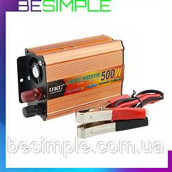 Перетворювач напруги UKC 500 W / Інвертор автомобільний 12/220 V