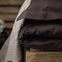 Постельное белье полуторное Комильфо люкс-сатин 160х220 коричневое KT0019