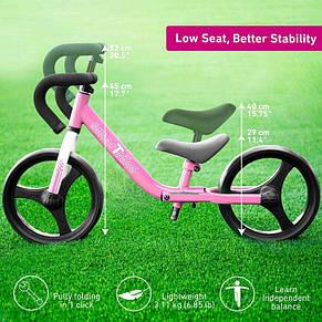 Беговел розовый Folding Smart Trike, фото 3