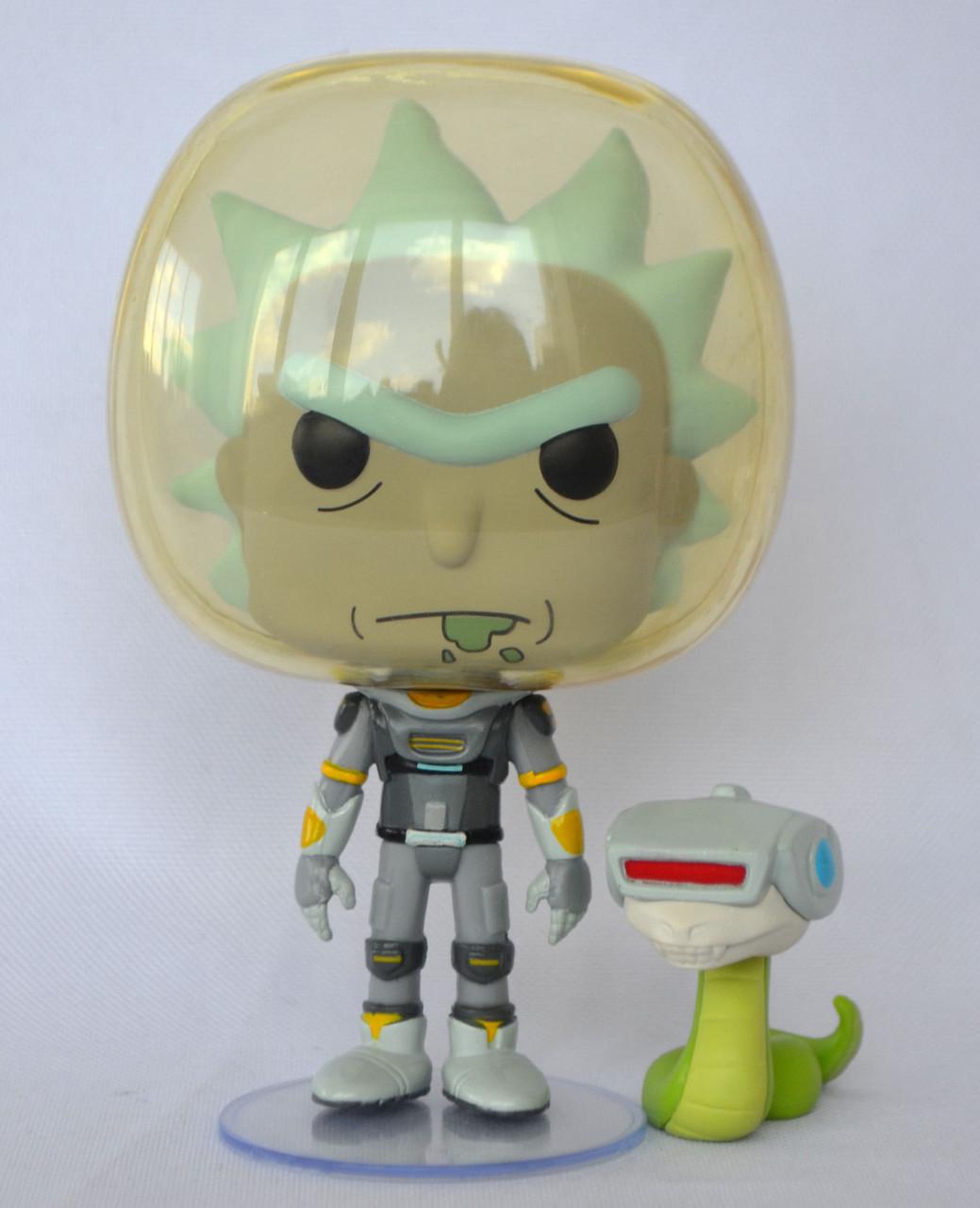 """Колекційна фігурка FUNKO POP! серії """"Rick & Morty"""" - Рік у скафандрі зі змією"""