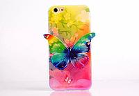 """Силиконовый зеленый чехол """"Бабочка"""" 3D для Iphone 6/6S"""