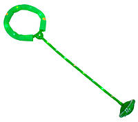Скакалка з підсвіткою на одну ногу зелена, нейроскакалка з коліщатком з доставкою по Україні