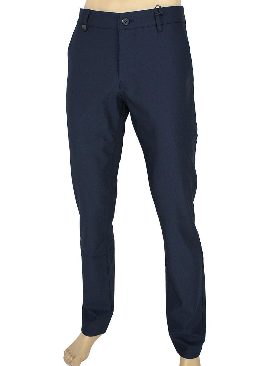 Чоловічі однотонні утеплені джинси X-Foot 170-3475 / L C-2 темно-синього кольору