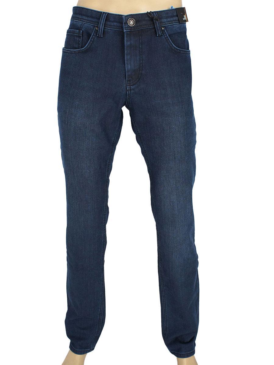 Зимові чоловічі джинси на флісі X-Foot 261-2548/L C-1