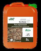 """Лак алкидный EcoStone """"мокрый камень"""" для любых поверхностей и каминов.  Глянцовий, 5 л"""