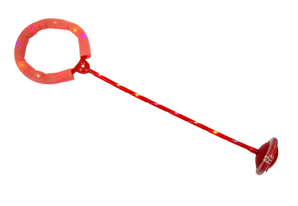 Светящаяся скакалка, нейроскакалка красная, скакалка на одну ногу с доставкой по Украине (NS)