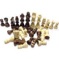 Фігурки для шахів з магнітом комплект шахових фігур. Король 7,8 см. Матеріал - дерево, фото 1