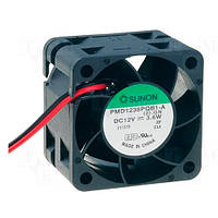 PMD1238PQB1A (вентилятор DC, 38x38x28, 12V, ball, 28м3/год, 47дБ)