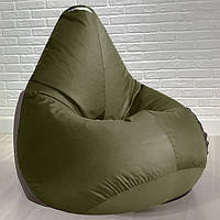 Бескаркасное кресло груша 85х105 см  Хаки