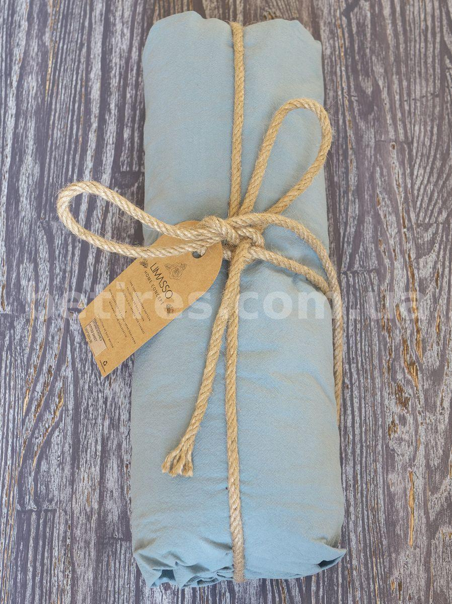 Простынь на резинке 160х200х30 LIMASSO AKDENIZ MAVISI голубая