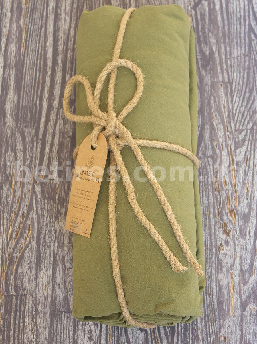 Простынь на резинке 180х200х30 LIMASSO CAPULET OLIVE оливковая