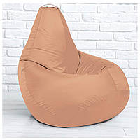 Бескаркасное кресло груша 85х105 см  Пудра