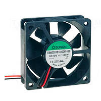 EB60201S1-999 (вентилятор DC, 60x60x20, 12V, sleeve, 38,9м3/год, 33,5дБ)