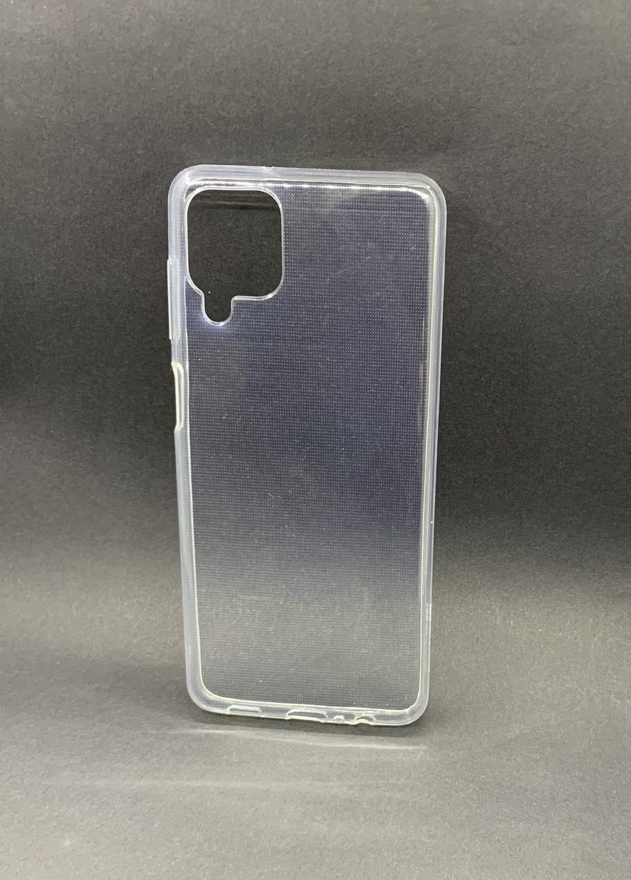 Чехол силиконовый для Samsung A12 2021 (A215F) ультратонкий прозрачный