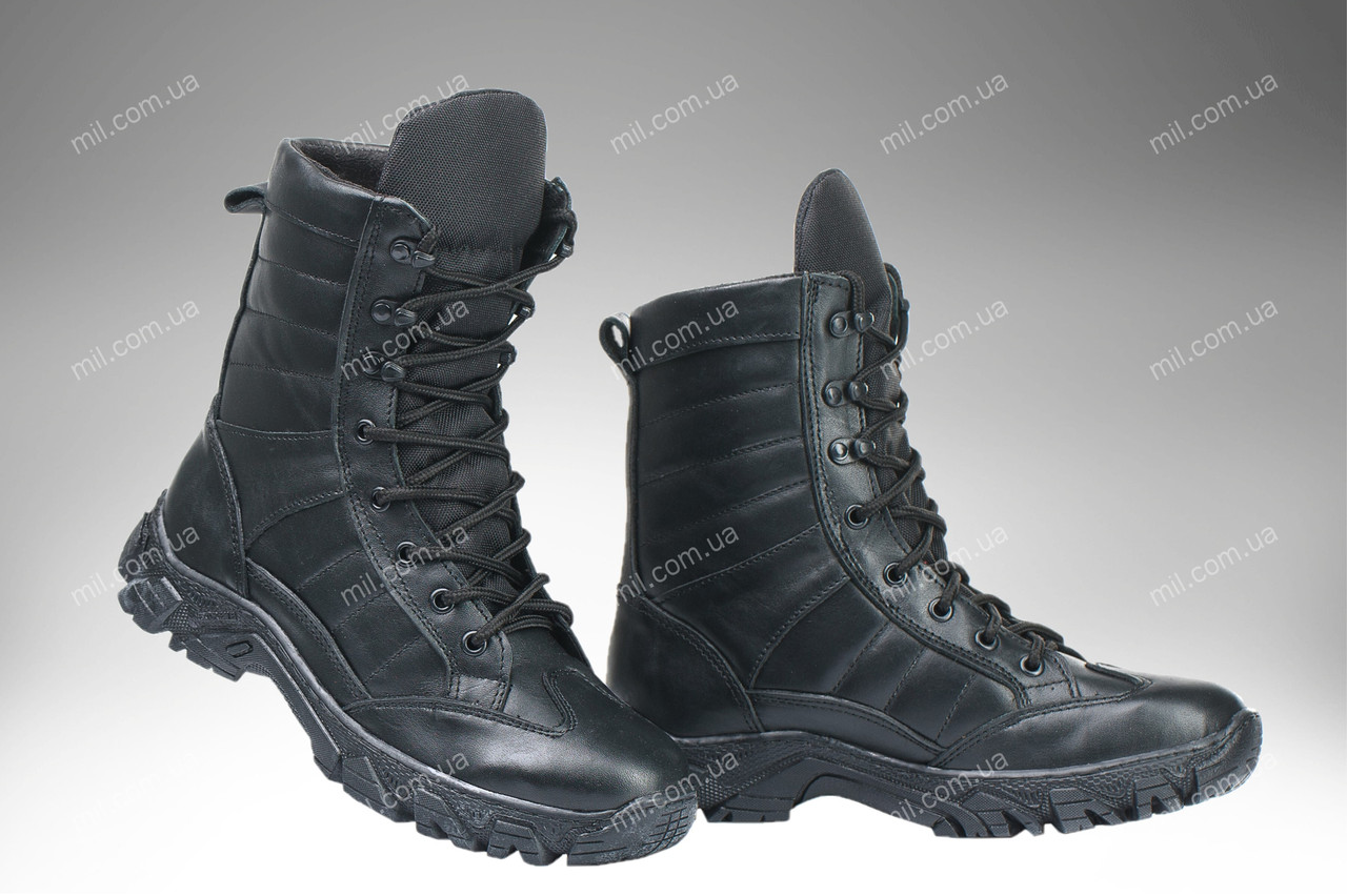 Берцы демисезонные / военная, тактическая обувь INFERNO Dark V2 (black)