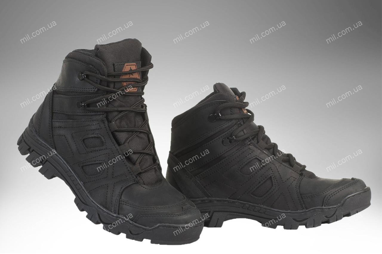 Ботинки тактические демисезонные / военная, армейские обувь HX HARD (black)