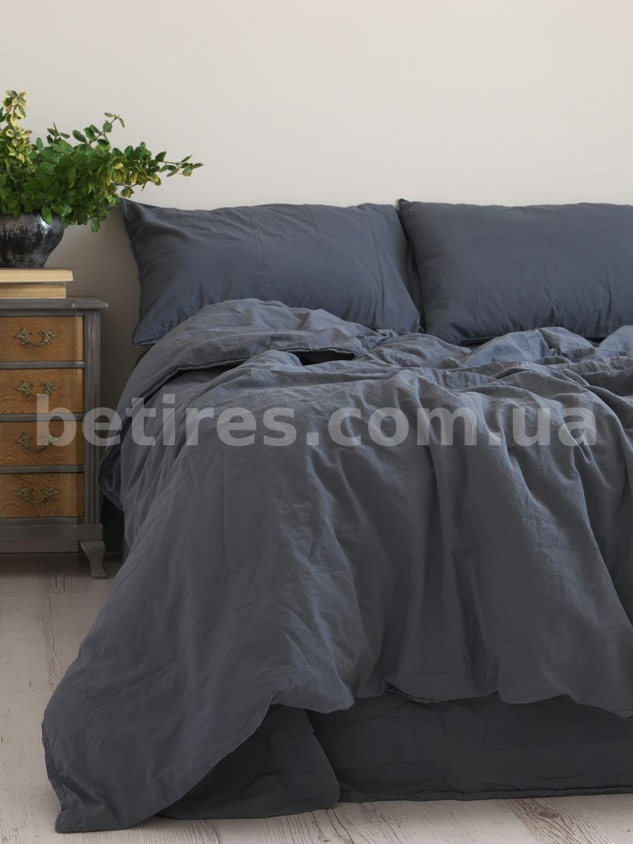 Комплект постільної білизни 160х220 LIMASSO NATURAL GREY STANDART сірий