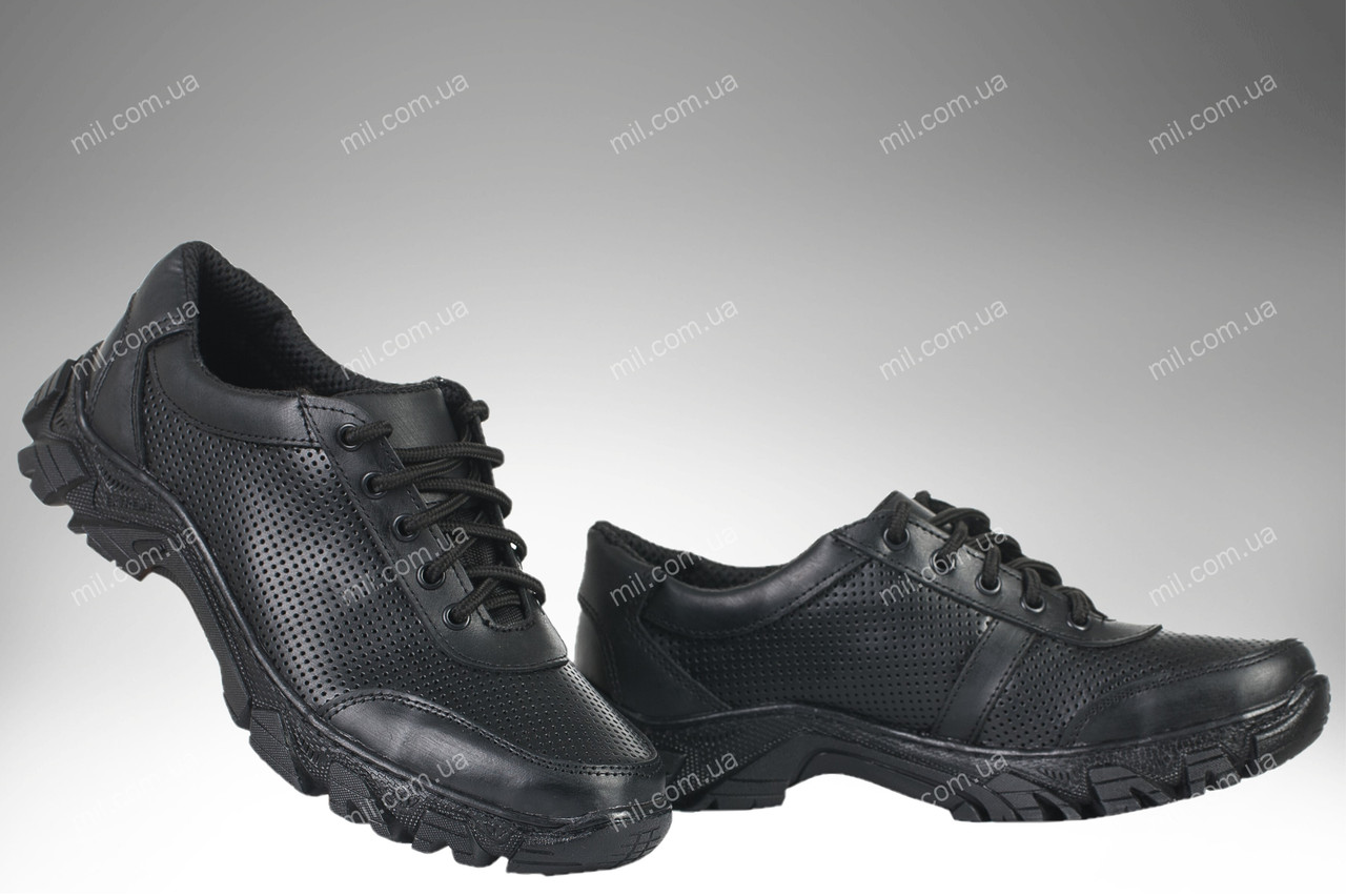Военные кроссовки / летняя перфорированная, тактическая обувь GLADIATOR (black)