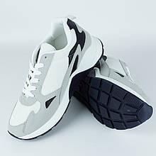 Кросівки чоловічі LaVento Білі з сірими на високій підошві 40-45р.