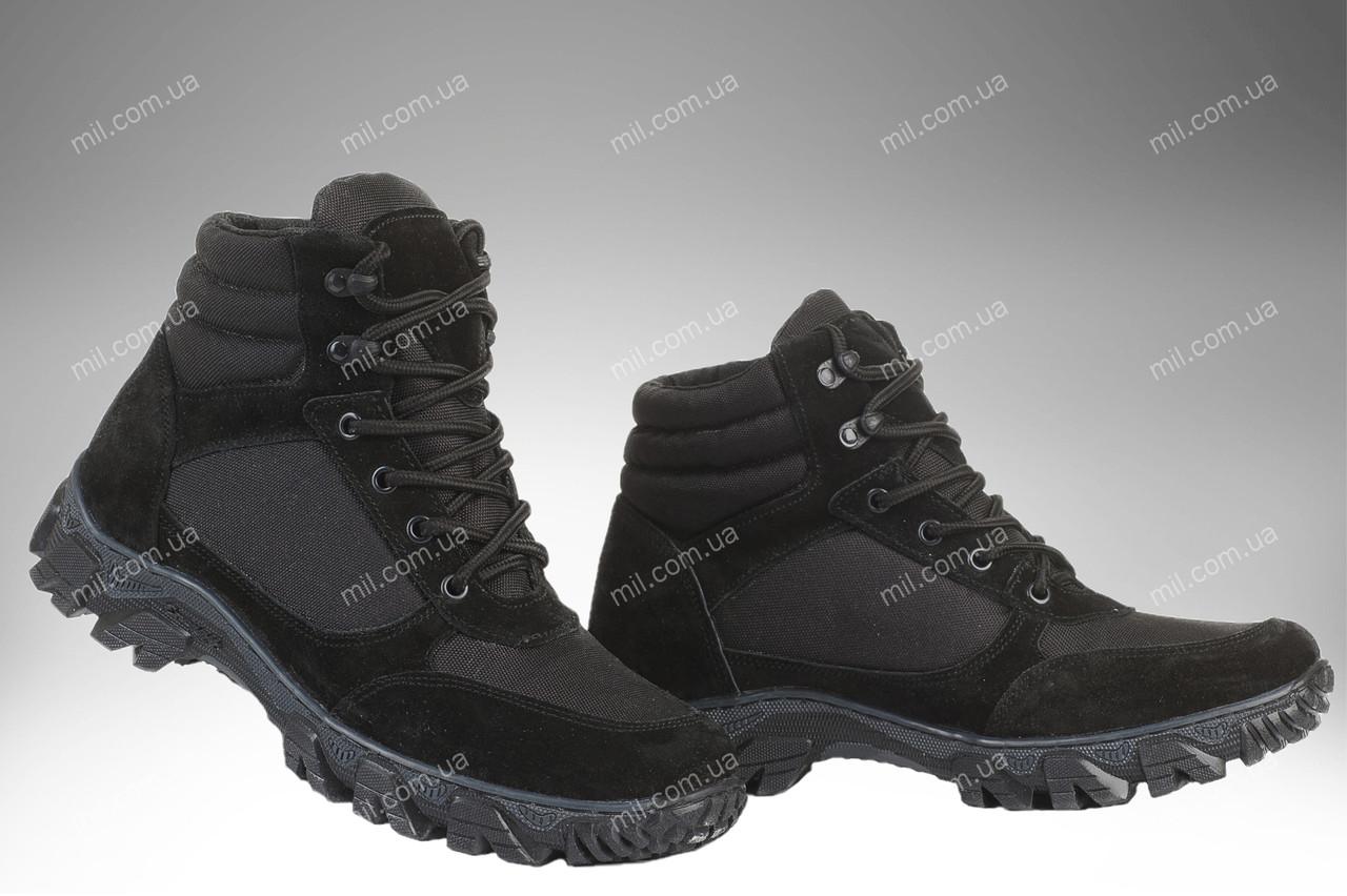 Военные демисезонные ботинки / тактическая, армейская спец обувь CYCLON (black)
