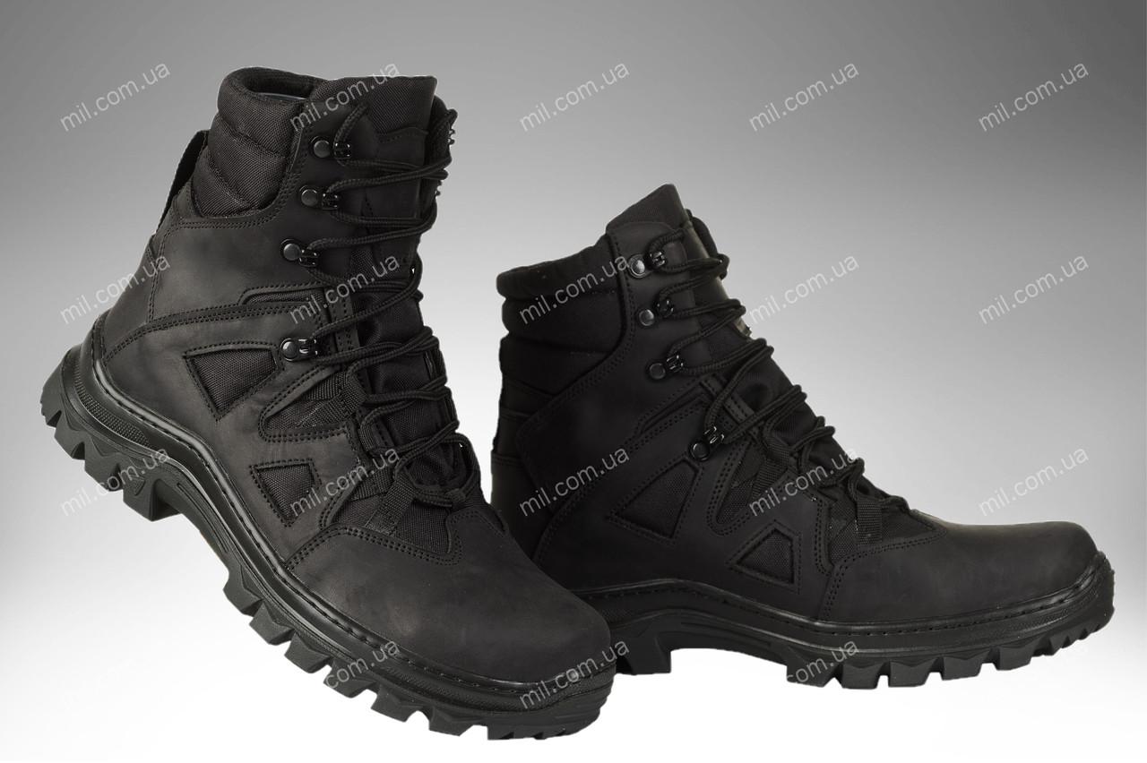 Демисезонные тактические ботинки/ армейская, военная спецобувь FORPOST (black)