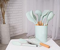Кухонный набор из 12 предметов Kitchen Art мята с бамбуковой ручкой VIP кухонные принадлежности