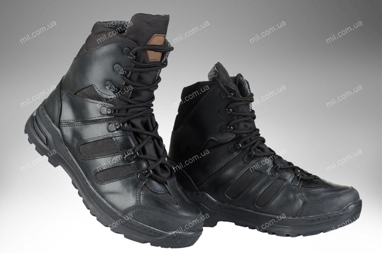 Берцы демисезонные / военная, тактическая обувь APACHE (black)