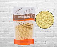 Віск в гранулах плівковий Hard Wax Beans молочний, 300 г, фото 1