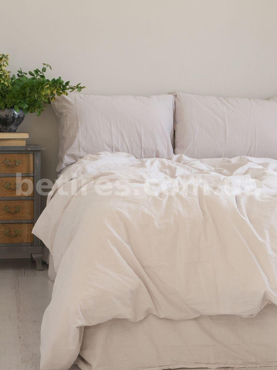 Комплект постельного белья СЕМЕЙНЫЙ LIMASSO NATURAL CREAM STANDART кремовый