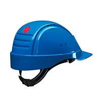 Каска захисна (3М) G2001DUV-BB без вентиляції, синя, шкіряна