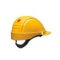 Каска захисна (3М) G2000DUV-GU з вентиляцією, жовта, шкіряна