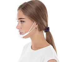 Маска пластиковая прозрачная многоразовая для лица, маска защитная прозрачная пластиковая для лица медицинская