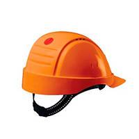 Каска захисна (3М) G2001DUV-OR без вентиляції, помаранчева, шкіряна