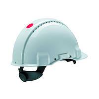 Каска захисна (3М) G3000CUV-VI з вентиляцією, біла, синтетична