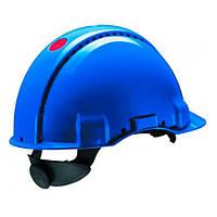 Каска захисна (3М) G3000DUV-BB з вентиляцією, синя, шкіряна