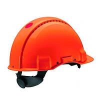 Каска захисна (3М) G3000NUV-OR з вентиляцією, помаранчева, поворотна, синтетична