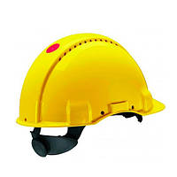 Каска захисна (3М) G3000DUV-GU з вентиляцією, жовта, шкіряна