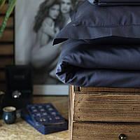 Постельное белье полуторное Комильфо люкс-сатин 160х220 синий KT0021